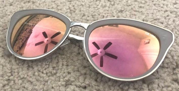 Quay Australia Orange Pink Mirrored Sunglasses
