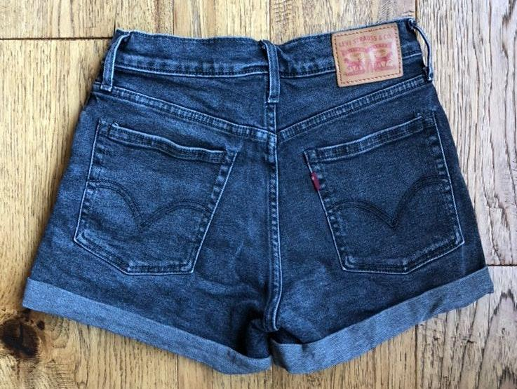 Levi's Vintage Black High Rise Jean Shorts