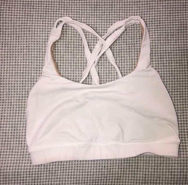 Lululemon white sports bra