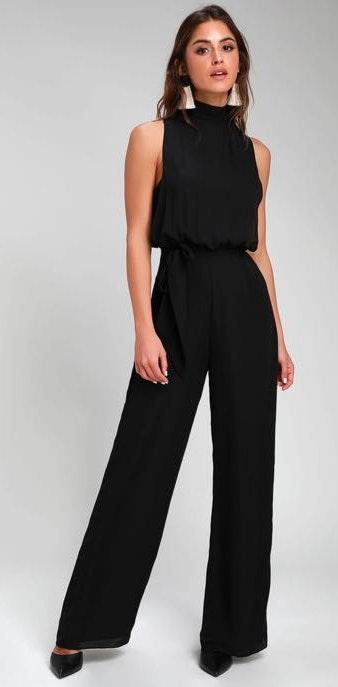 Lulus Black Strut Your Stuff Jumpsuit