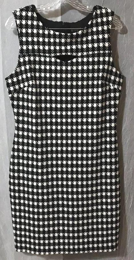 Enfocus Studio Classy Plus Size Houndstooth Dress Size 14 | Curtsy