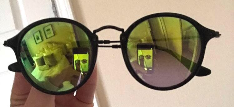 Ray-Ban Rayban Round Fleck Flash Glasses