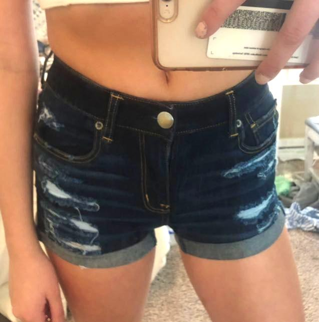 American Eagle Outfitters dark demin shorts