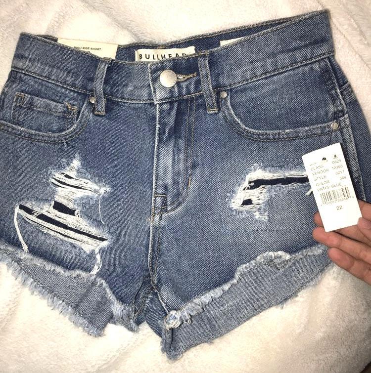 Pacsun High Rise Dark Jean Shorts
