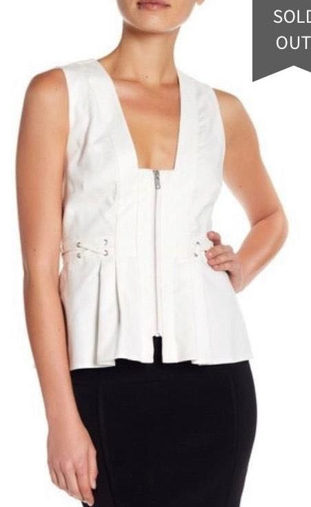 Kendall & Kylie kendall and kylie white peplum top