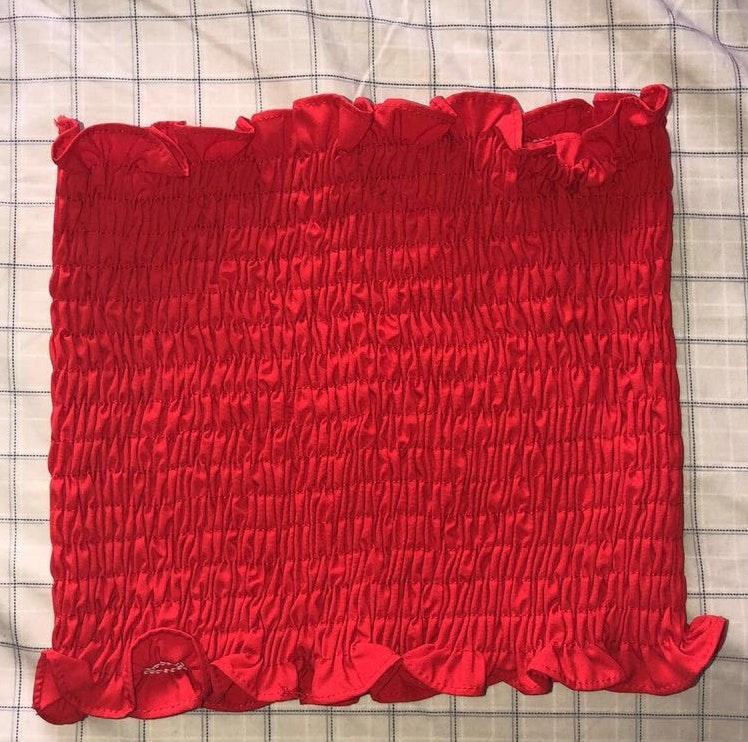 SheIn red scrunchie top