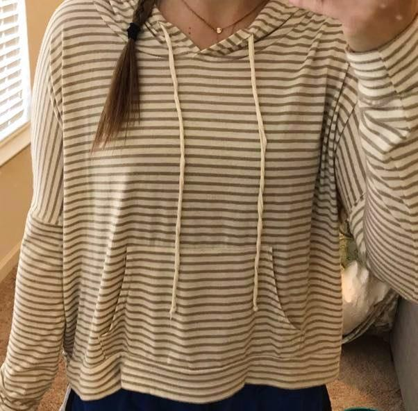 Boutique Striped Hoodie