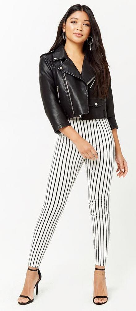 Forever 21 Striped High Waist Pants