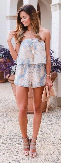 Honey Punch Sky Tie Dye Romper