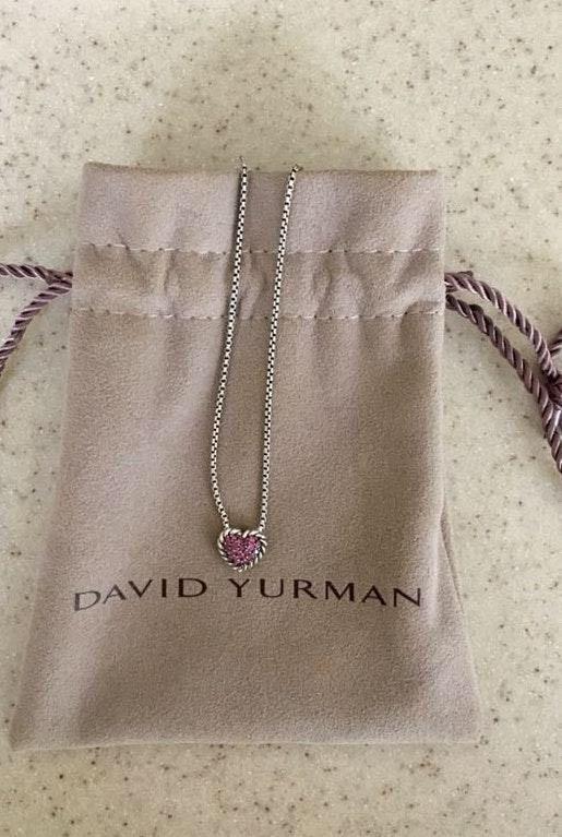 49e935dae00e0 David Yurman Petite Pave Heart Pendant Necklace