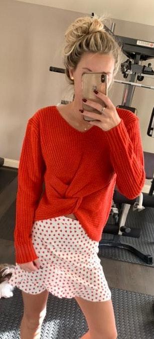 A'Gaci Front Tie Twist Sweater