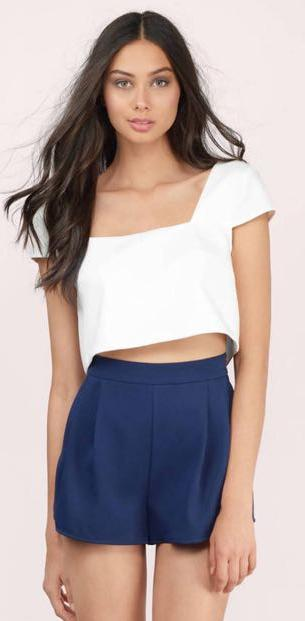2e72d9735a1b02 We re the buy sell app for cute clothes. Say to being bored of your  clothes. Home Tobi Grace White Crop Top
