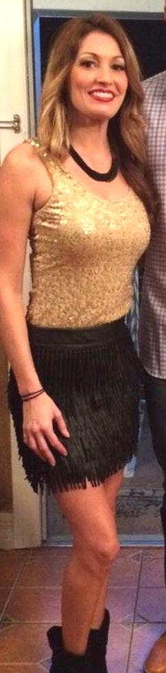 Paper Crane Black Leather Fringe Skirt