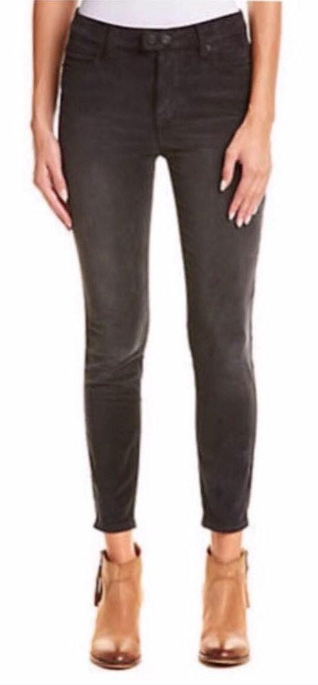 Free People Corduroy Black Skinny Jeans
