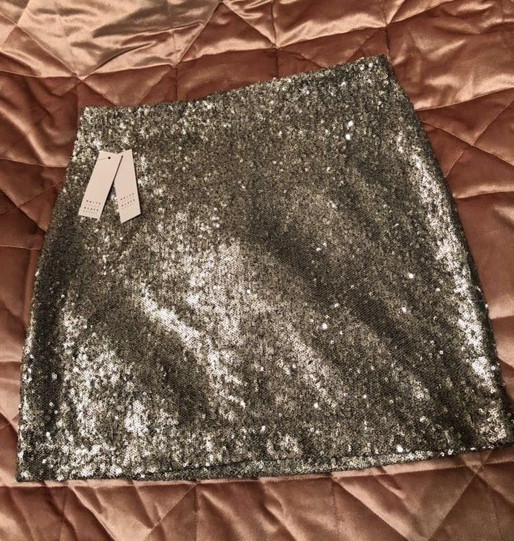 65d9c6f867b0 We're the buy/sell app for cute clothes. Say to being bored of your  clothes. Home White House | Black Market Silver Sequin Skirt