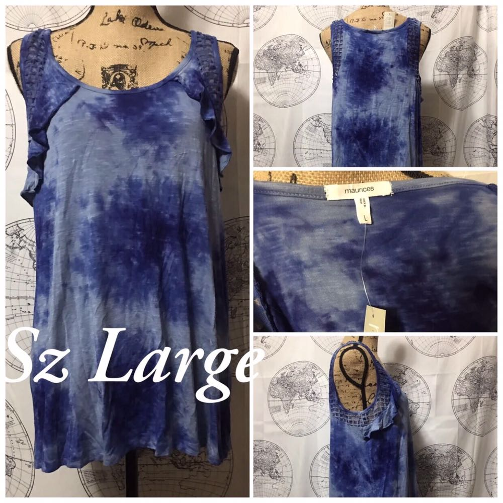 Maurices Blue Tyedye Tunic Top