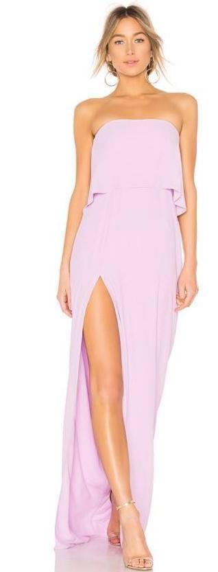 Amanda Uprichard Lilac Strapless Dress