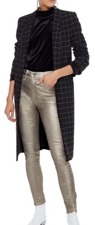 Rag & Bone NWT metallic high Rude Skinny Jeans