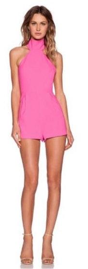 Finders Keepers Limitless Crepe Hot Pink Romper