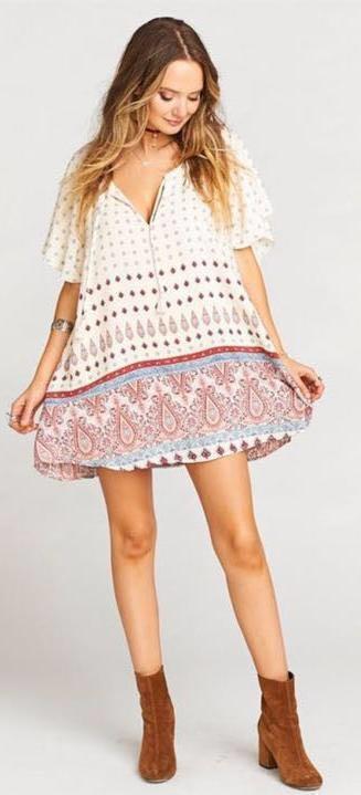 Show Me Your Mumu Tassel Tunic Saloon Soiree Dress