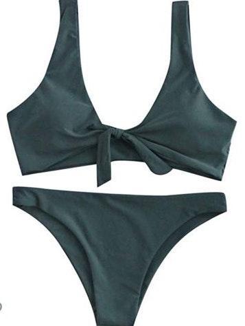 Amazon Green Bikini