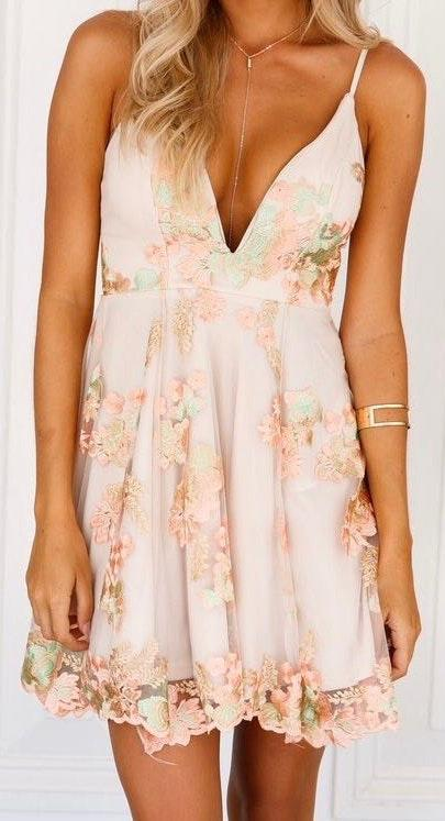 Xenia Floral Prom Dress