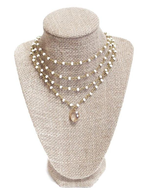 Beaded by Meg Quadruple Layered Howlite Necklace