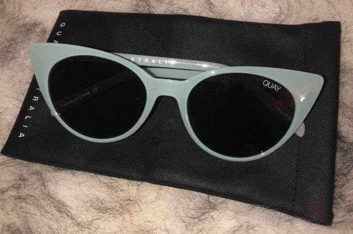 Quay Australia Quay Teal Retro Sunglasses