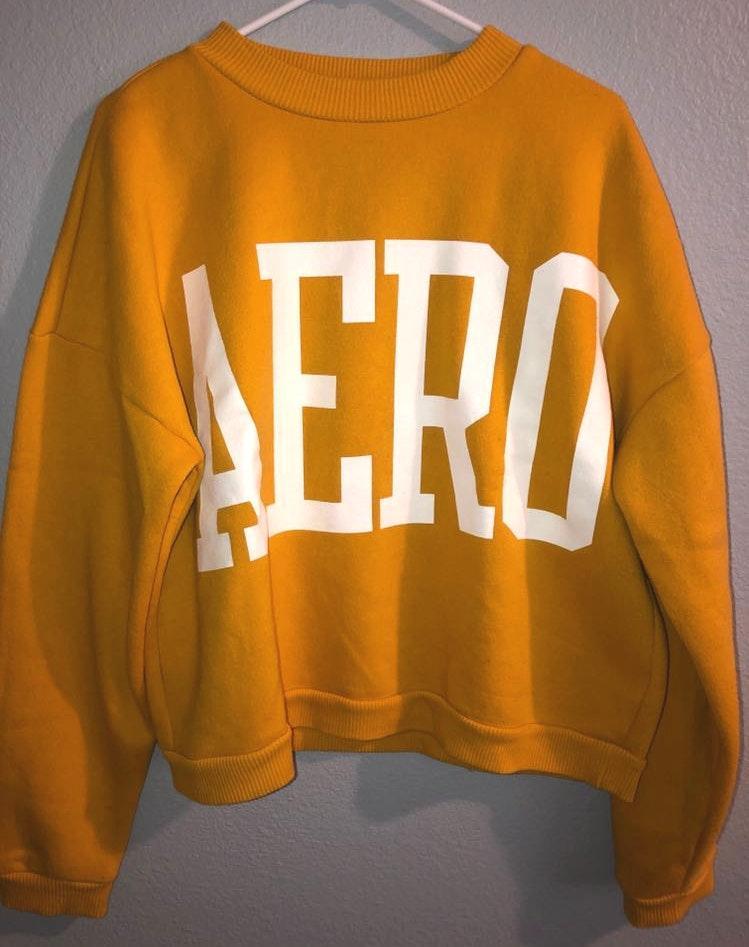 """Aeropostale Yellow """"AERO"""" Sweatshirt"""