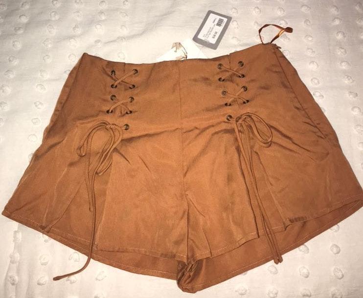 Honey Belle Burnt Orange Shorts