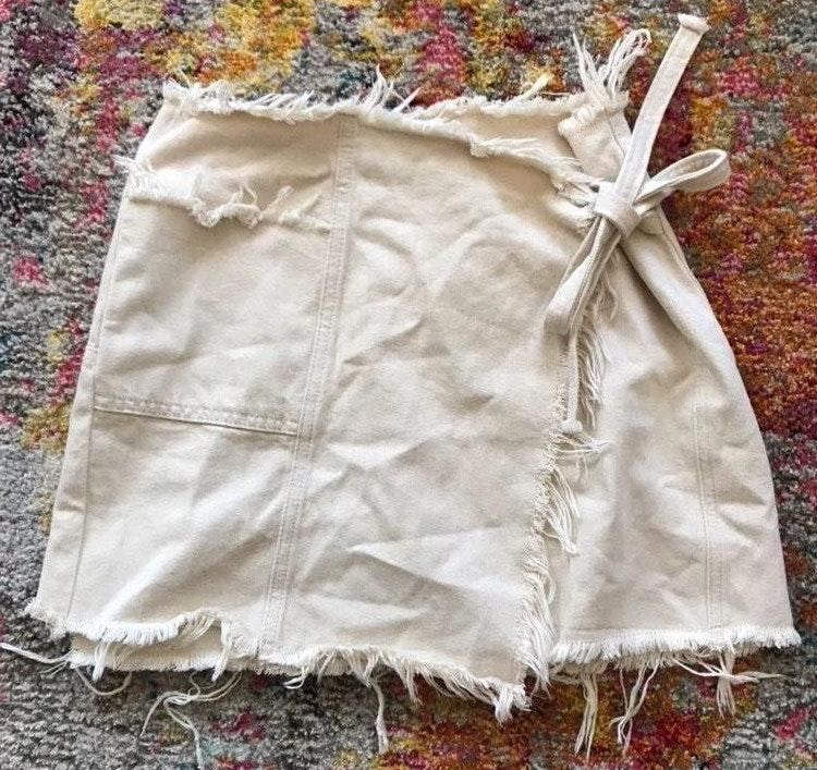 Urban Outfitters Tan Wrap Skirt