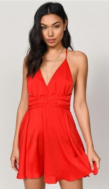 Tobi Red Cocktail Dress