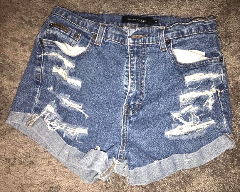 Calvin Klein High Waisted Jean Shorts