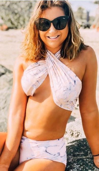 Nasty Gal Marble Bikini