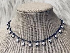 grey altitude Coin Drop necklace