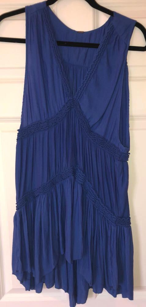 Free People Royal Blue Dress