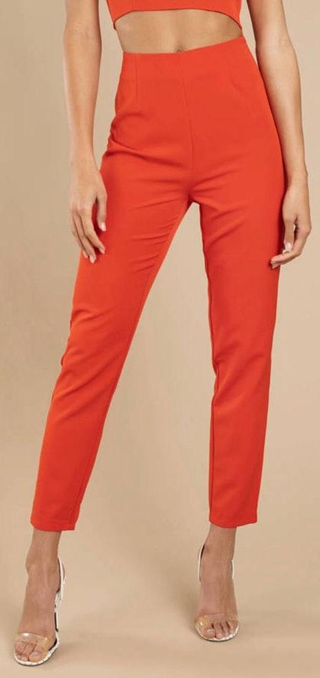 Tobi Red Orange Skinny Pants