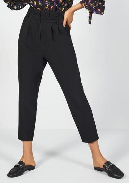 Topshop Pleated High Waist Peg Trousers