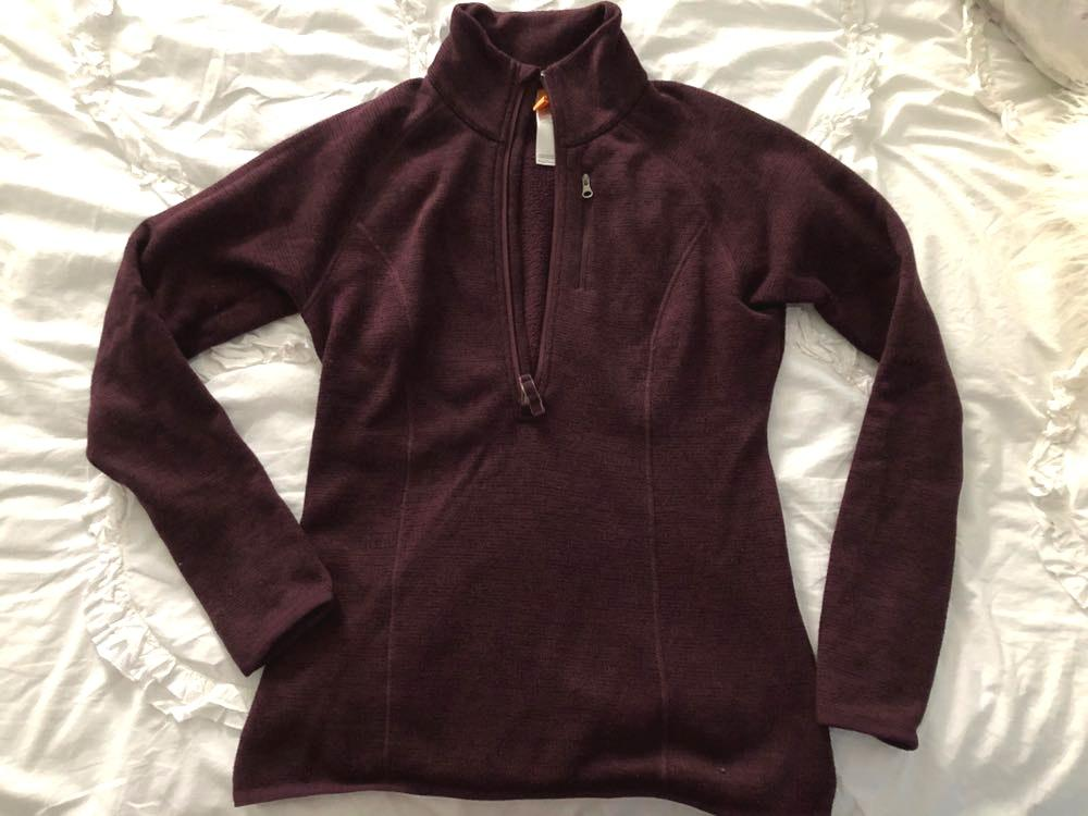 The North Face Purple 1/4 Zip Sweatshirt