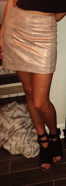 Free People Rose Gold Skirt