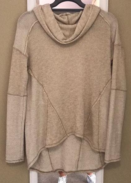 Free People Beige Knit Sweater