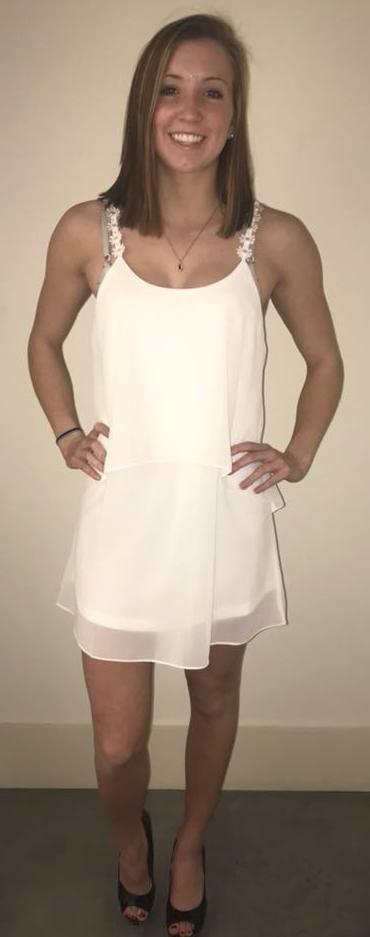 Cotton Candy LA Sleek White Dress