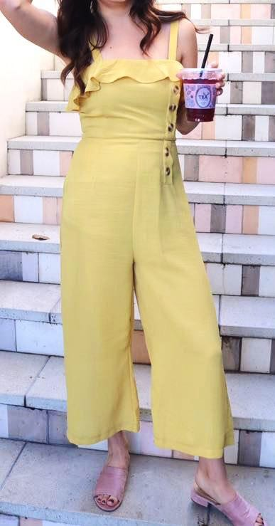 American Threads Yellow Jumpsuit