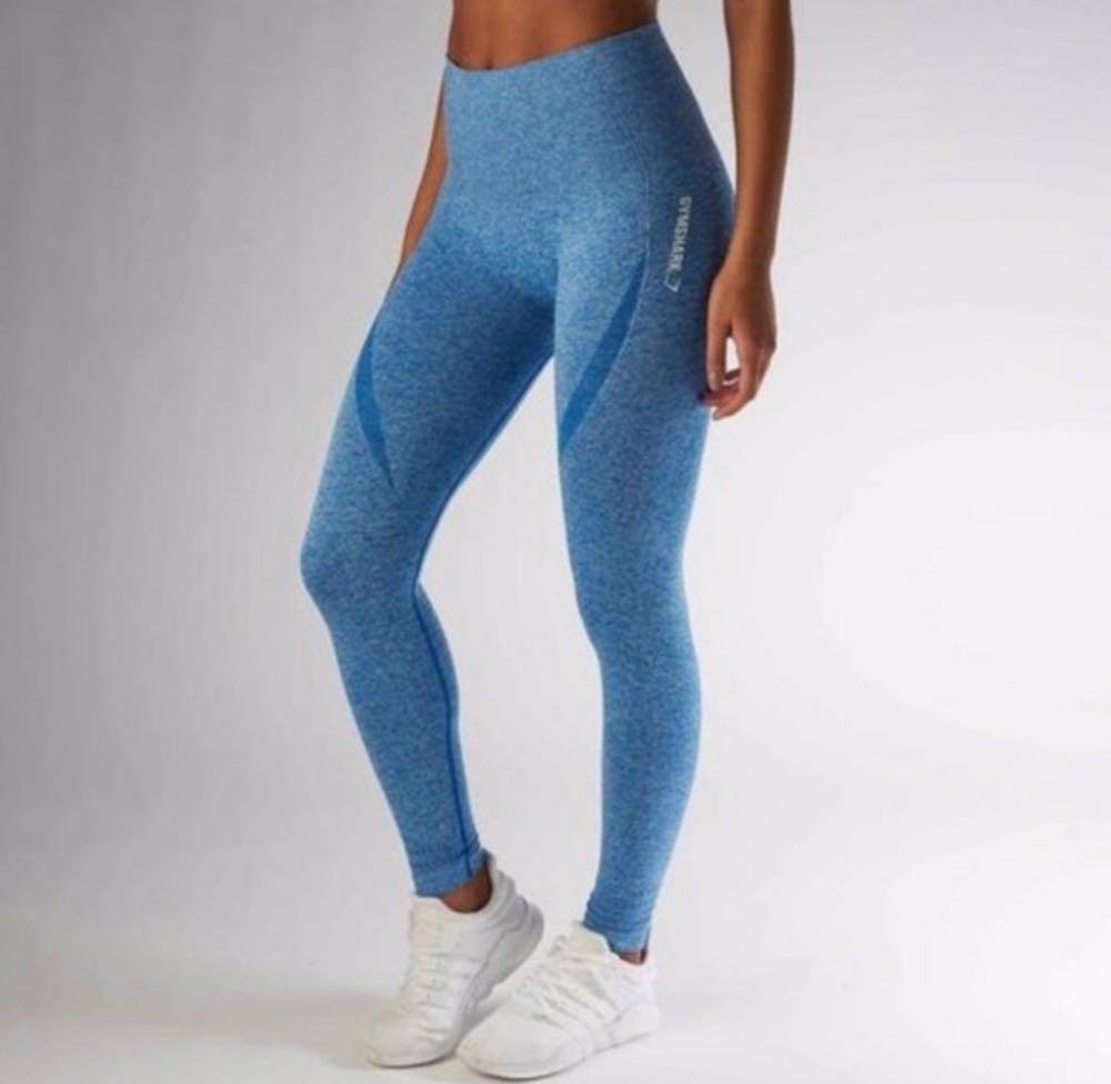 Gymshark Seamless Leggings Blueberry Athletic Yoga Pant
