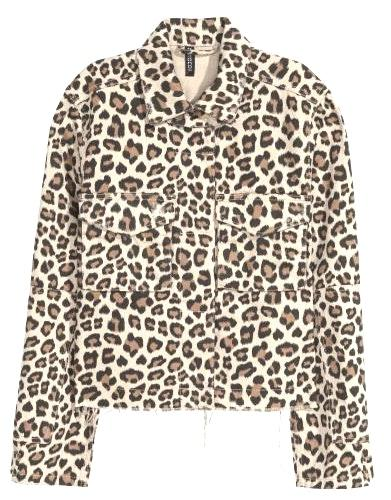 Divided Leopard/Cheetah Print Denim Jacket