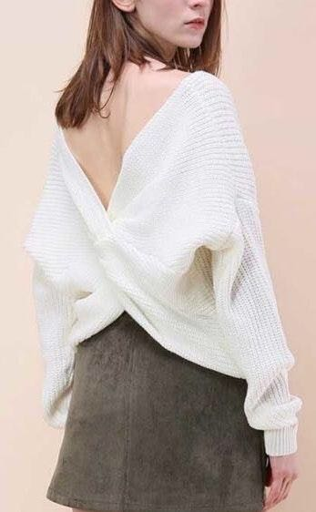 NWT White Sweater Pullover