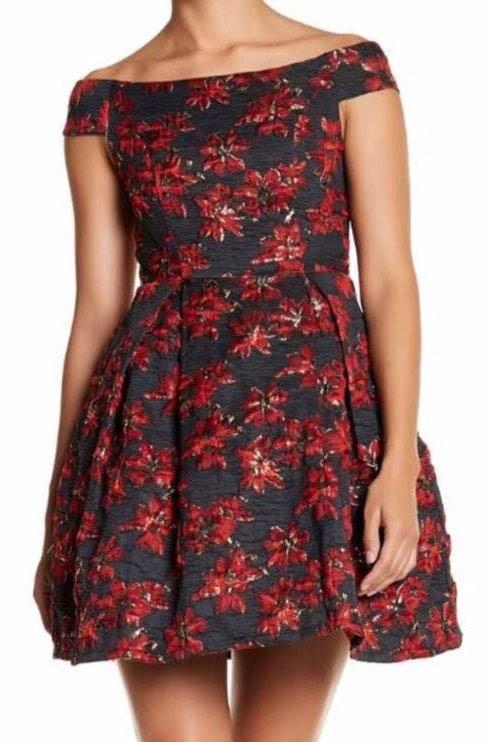 L'ATISTE Floral Off The Shoulder Dress