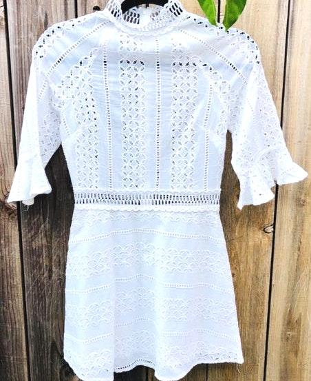 Hello Molly White Boho Dress