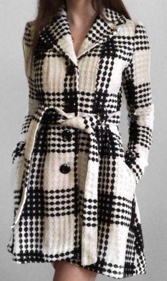 Candie's Black & White High Low Coat