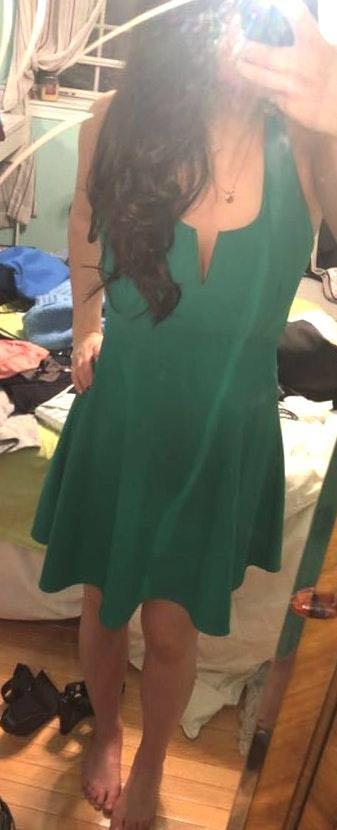 Mystic Green Cocktail Dress
